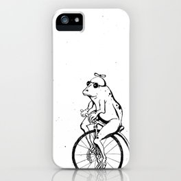 Ferdinand the Bike Riding Frog iPhone Case