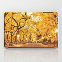 new york city iPad Cases featuring New York City Autumn by Vivienne Gucwa