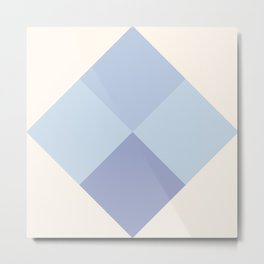 Blue Argyle Metal Print