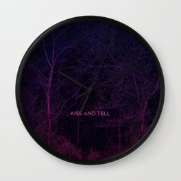 Kiss and Tell Wall Clock