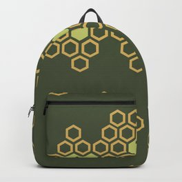 Abstract Geometric Honey Comb Backpack