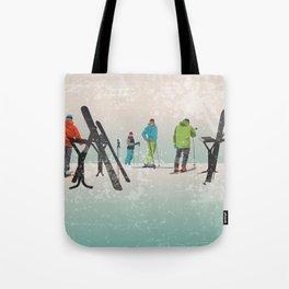 Skiers Summit Tote Bag