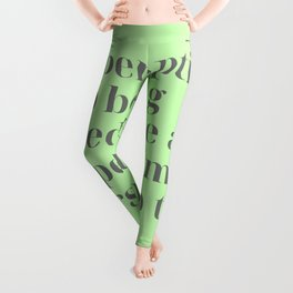 Discard your misperceptions. Stop being jerked like a puppet. Marcus Aurelius Leggings