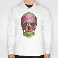 skull Hoodies featuring Navajo Skull  by Terry Fan