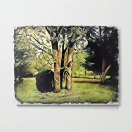 Trees In Surrealism Art Metal Print
