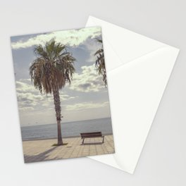 Palm trees in Palma de Mallorca Stationery Cards