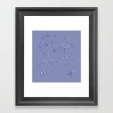 Dandelion Pattern Framed Art Print