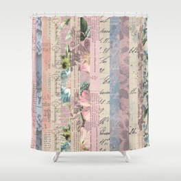 Vintage Shabby Florals Shower Curtain