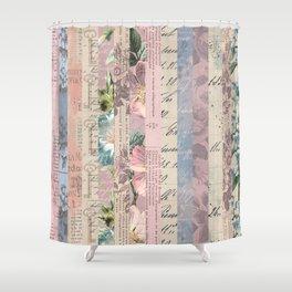 Vintage Shabby Florals Shower Curtain