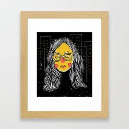 City Girl Megane Framed Art Print