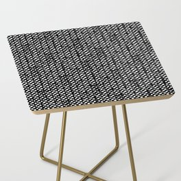 Blk Cans Side Table