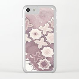 X's & O's Clear iPhone Case