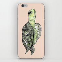 sea turtle iPhone & iPod Skins featuring Turtle by Tara Put