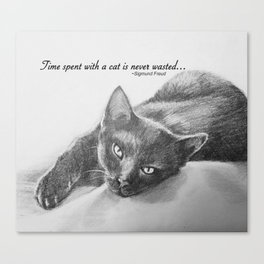 Time with a Cat Canvas Print