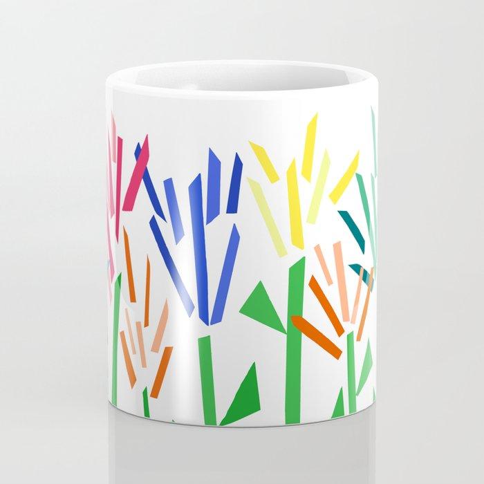 Tropical Rainbow Collage by Emma Freeman Coffee Mug