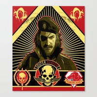 propaganda Canvas Prints featuring Propaganda by NB1984