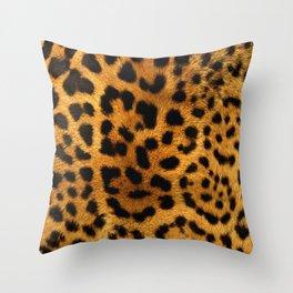 Trendy girly pattern wild safari animal Leopard Print Throw Pillow