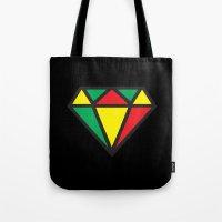 reggae Tote Bags featuring Reggae Diamond by Grime Lab