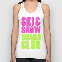 snowboard Tank Tops featuring WHS Ski and Snowboard Club by slothcats