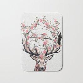 Deer and Flowers Bath Mat
