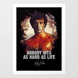 Rocky Balboa - Sylvester Stallone Art Print