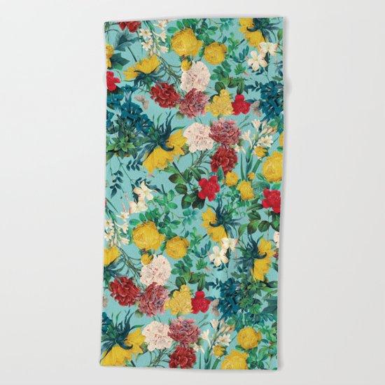 Summer Botanical III Beach Towel