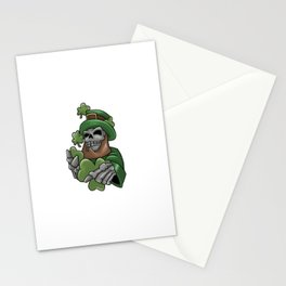 Skull Leprechaun Shamrock St. Patrick's Day Stationery Cards