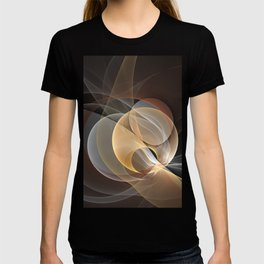 Brown, Beige And Gray Abstract Fractals Art T-shirt
