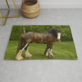Clyde the Clydesdale Rug