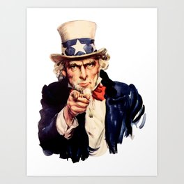 Uncle Sam Pointing Finger Art Print