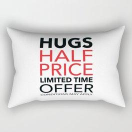 Half Price Hugs Rectangular Pillow