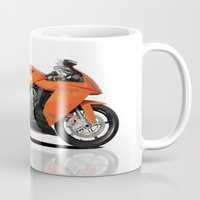 motorbike Mugs featuring KTM RC8 motorbike by cjsphotos
