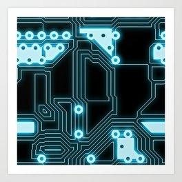 Circuit Pattern Art Print