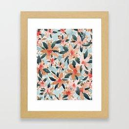 LAHAINA DANCE Tropical Floral Framed Art Print