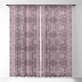 Shades of Wine Shibori Sheer Curtain