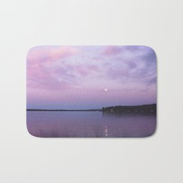 Full Moon Over The Crooked Lake Bath Mat