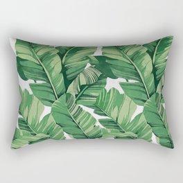 Tropical banana leaves V Rectangular Pillow