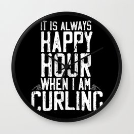 curling ice winter sports curler gift Wall Clock