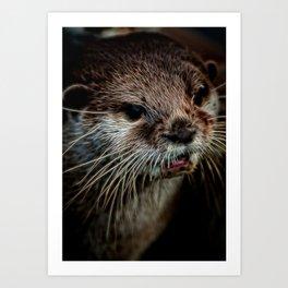 Otters Sweet Face Art Print