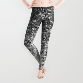 Soft Silver Gray Glitter #1 (Faux Glitter - Photography) #shiny #decor #art #society6 Leggings