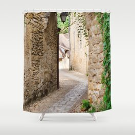 Through the Village Shower Curtain