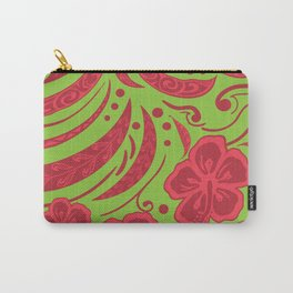 Samoan Polynesian Floral Carry-All Pouch