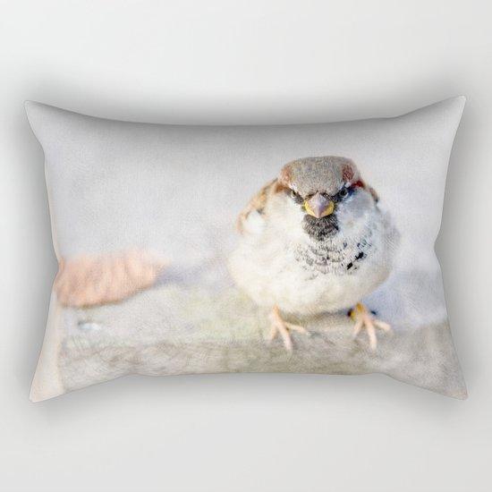 Don't Mess With Sparrows Rectangular Pillow