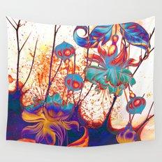 pop fuchsia Wall Tapestry