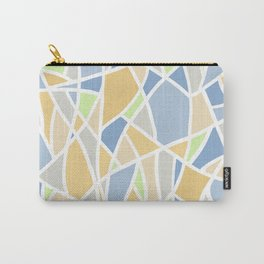 Geometric Shapes - Lilac and Golden Yellow Carry-All Pouch