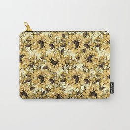 Sunflowers on Yellow Carry-All Pouch