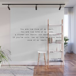 You are the rose of my heart - Lyrics collection Wall Mural