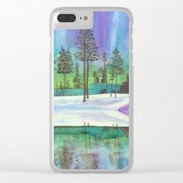 Alaskan Aurora Lights Clear iPhone Case