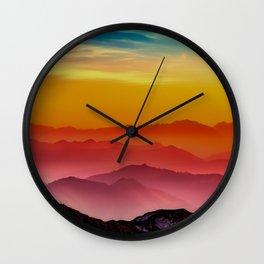 Rainbow Nature Wall Clock