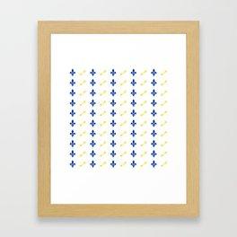 Key & Fleur De Lis Print Framed Art Print